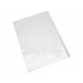 saco plástico transparente 4 furos