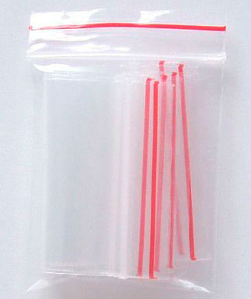 saco plástico com ziplock lisos