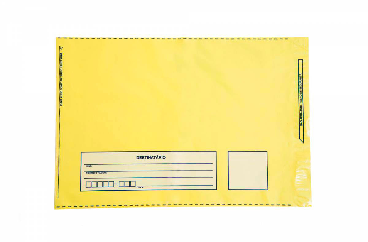 envelope com remetente e destinatario