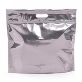 Saco com Zip Metalizado Personalizado